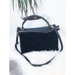 Černá broušená kabelka Louis