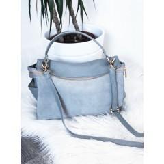 Šedá broušená kabelka Louis