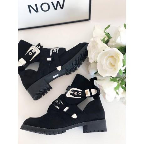 Semišové boty Ballanci černé