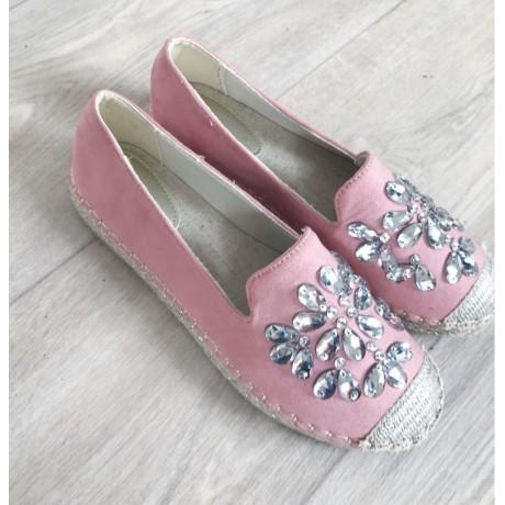 755293a75 Espadrilky s kamínky Gloria růžové - I wanna shoes