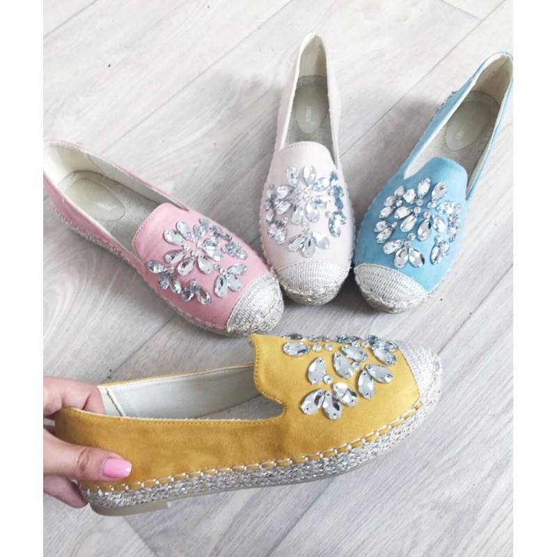 95af7c240 Espadrilky s kamínky Gloria žluté - I wanna shoes