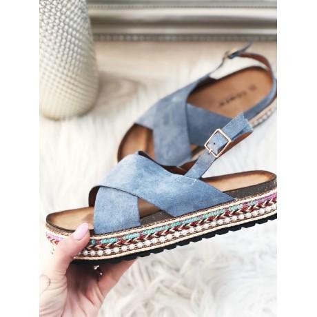 Páskové pantofle Ariana modré