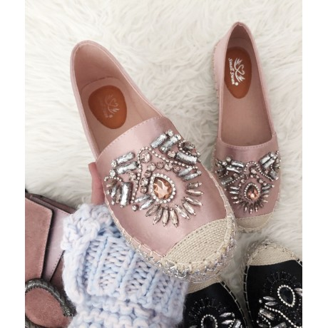 Espadrilky Diamond metalicky růžové