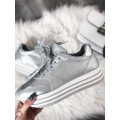 Tenisky High Silver Sparkle