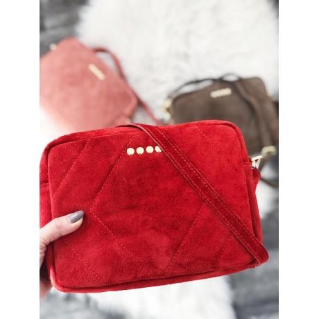 Broušená kabelka Cloe červená