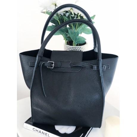 Černá kabelka - nový model Celi. handmade hladká