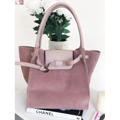 Pudrová kabelka - nový model Celi. handmade broušená
