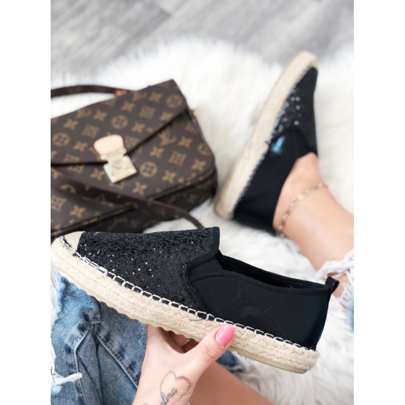 43d3700df Espadrilky basic černé - glitter - I wanna shoes