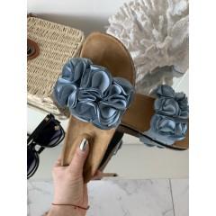 Pantofle Roses modré