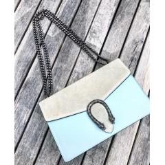 Kožená kabelka Dionysus modrá