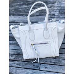 Bílá kožená kabelka Celine