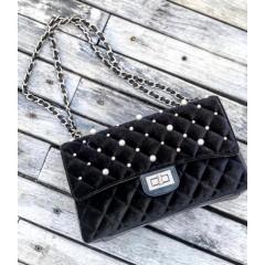 Černá perlová kabelky Channy