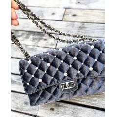 Šedá perlová kabelky Channy