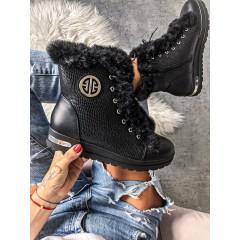 Zateplené boty Hermer na klínku