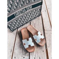 HERMI pantofle bílé - II