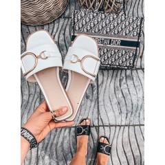 Pantofle AMBER bílé