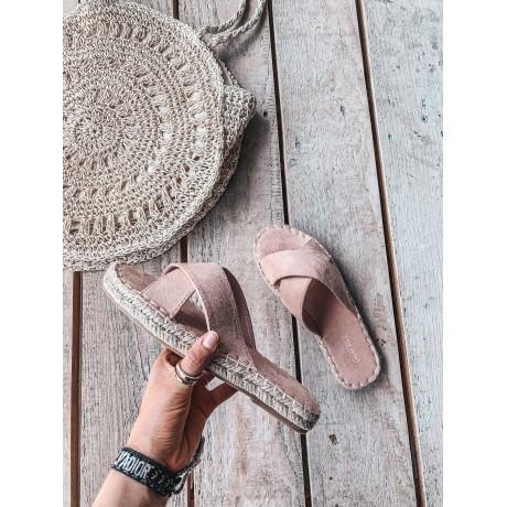 Pantofle CROSS pink
