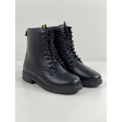 Kotníkové boty Natural černé
